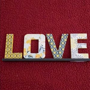 Wooden Love Sign Home Decor Tabletop Sign